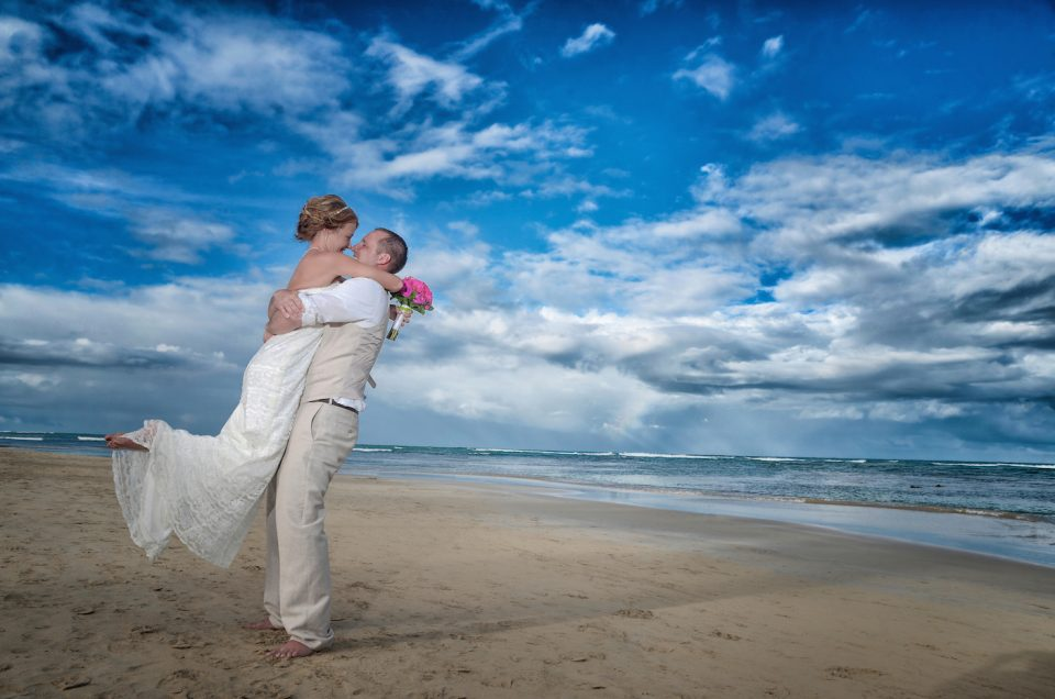 Brandon and Cassi on their Destination Wedding at Breathless Resort, Punta Cana