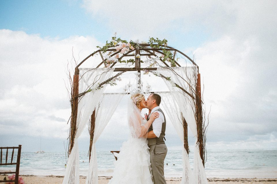 Tory and Nicholas on their amazing wedding at Now Larimar
