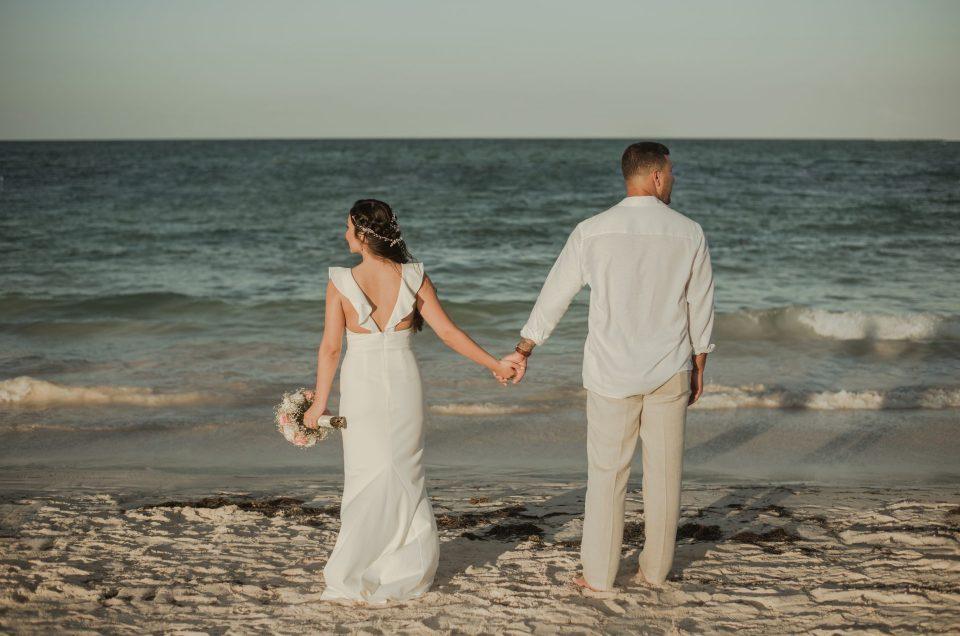 Marian and Eric's Elopement at Dreams Royal Beach